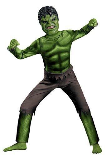 Incredible Hulk Movie Costumes (Avengers Hulk Classic Costume, Green/Brown, Medium)