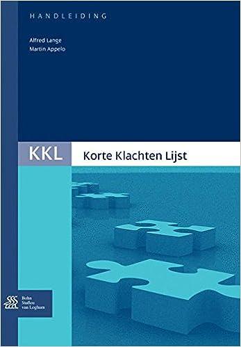 Korte Klachten Lijst KKL handleiding KKL Korte klachtenlijst ...