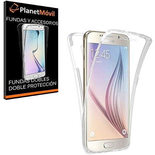 PLANETMOVIL Carcasa Compatible con Samsung Galaxy S7 Edge Funda DE Silicona Delantera + Trasera Doble 100% Transparente: Amazon.es: Electrónica