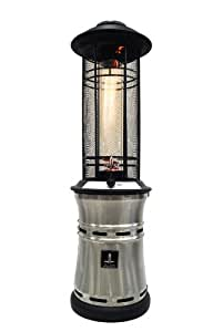 Lava Heat Italia EMBER-PP Ember Outdoor Patio Heater, Pewter Electroplated