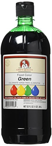 Chef's Quality Green Food Color 32 Oz (2 Pack) ()