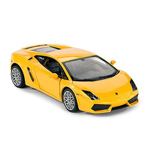 HBWJSH Modelo de automóvil, 1:20 Modelo de automóvil Modelo de automóvil de aleación de simulación Modelo de automóvil de Metal, tamaño: 21.79X12.69X6.0CM (Color : Amarillo) por HBWJSH