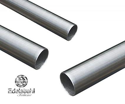 Tubos de acero inoxidable 10 x 1 Meter (100 cm) V2A 1,4301 ...