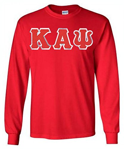 Greekgear Kappa Alpha Psi Fraternity Greek Lettered Long-Sleeve T-Shirt Large Red