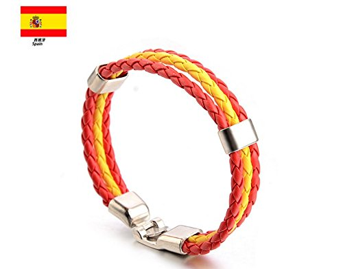 la coppa del mondo fifa bandiera nazionale braccialetto braccialetto braccialetto bracciale - multi - strato, tessuti-Spagna Hemore