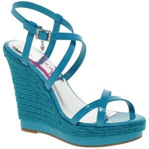 fdd02c0282b Lipsy Ladies Trance Turquoise Blue Wedge Shoes : Size - UK 6: Amazon ...