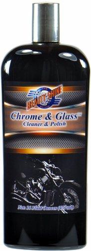 Beauty Shine Chrome & Glass - Cleaner & Polish - 16 Fluid Ounces - Beauty Shine Auto Glass Polish