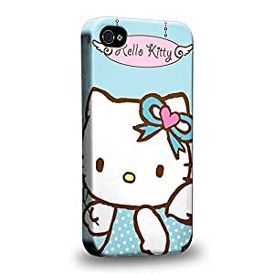 Case88 Premium Designs Hello Kitty Collection Angel Hello Kitty Protective Snap-on Hard Back Case Cover for Apple iPhone 4 4s