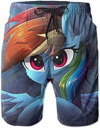 Hkdfjg My Little Pony - Pantalones cortos de natación para hombre, estilo informal, para surf, playa, para verano, vacaciones, gimnasio, correr, correr