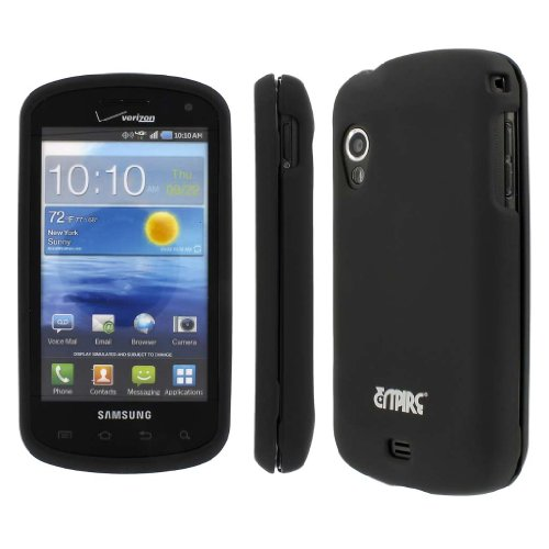 EMPIRE Black Rubberized Hard Case Cover for Samsung Stratosphere (Case Stratosphere)