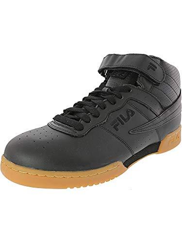 Fila Men's F-13 High-Top Sneakers Shoes (11 D(M) US, Black/Black/Gum)