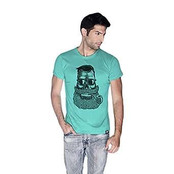Creo Beard Pipe Retro T-Shirt For Men - L, Green