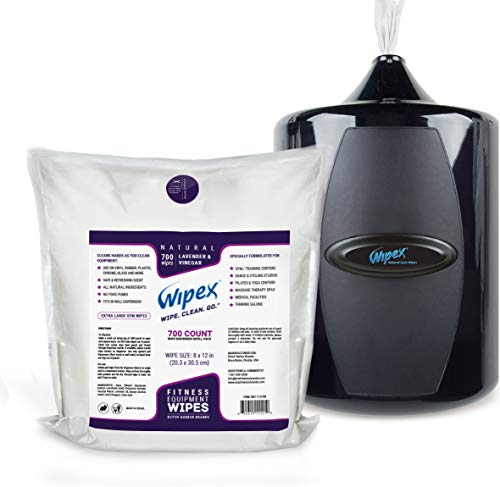 Wipex Gym & Fitness Wipes Refill Pack, 700 Large Natural Wipes Infused with Vinegar & Lavender (4) by Wipex (Image #4)