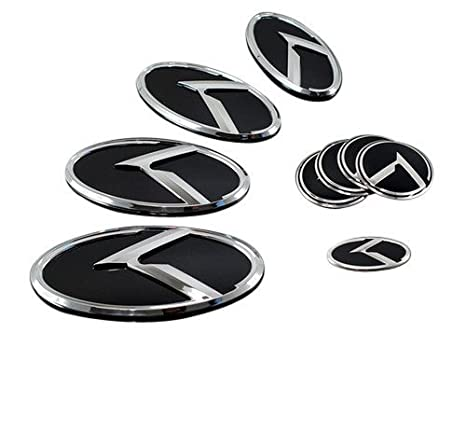 Amazon Lightkorea K Logo 3d Emblem Hood Rear Horn Wheel Caps