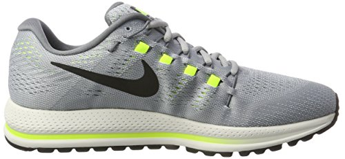 Nike Air Zoom Vomero 12, Scarpe da Corsa Uomo Grigio (Wolf Grey/Black/Cool Grey/Pure Platinum/Volt)