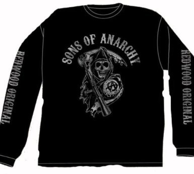 Sons Of Anarchy Fear The Reaper Long Sleeve Black T-Shirt Large (Sons Of Anarchy Shirt)