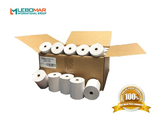 Printer Thermal Srp Receipt 370 (Thermal Paper Rolls 3-1/8 x 230' (Box of 50 Rolls) For POS Printers & Cash Register White – # 1 Voted by Manufacturers and Retailers in ALL AMERICA by LEBOMAR INTERNATIONAL)