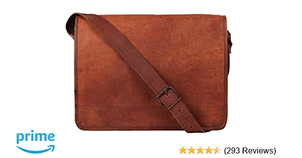 f159bd6ba212 Amazon.com  Rustic Town 15 inch Vintage Crossbody Genuine Leather Laptop Messenger  Bag  Computers   Accessories