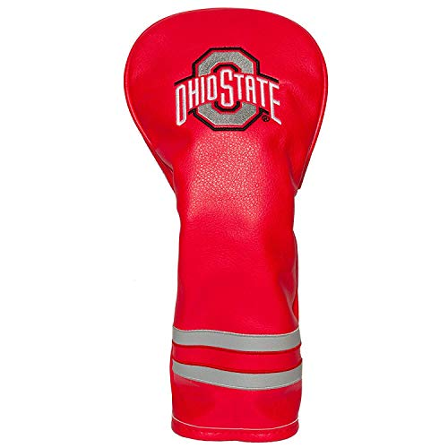 Team Golf NCAA Ohio State Buckeyes Vintage Fairway Golf Club Headcover, Form Fitting Design, Retro Design & Superb Embroidery