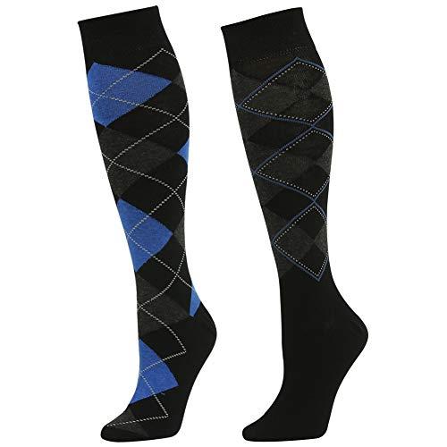 Wedding Dress Socks, SUTTOS Mens Womens Unisex Custom Elite Diamond Sharp Plaid Argyle Socks Fashion Design Knee High Over-The-Calf Long Tube Casual Dress Novelty Socks, 2 Pairs