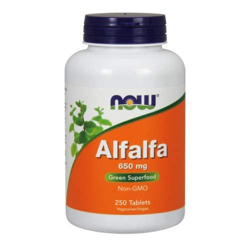 Alfalfa, 650 mg, 250 Tabs by Now Foods (Pack of 3)
