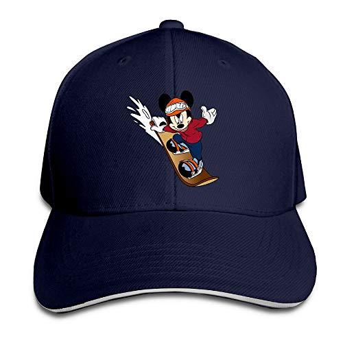 fe165a5048 FOOOKL Mickey Mouse Skateboard Cap Unisex Low Profile Cotton Hat Baseball  Caps Navy