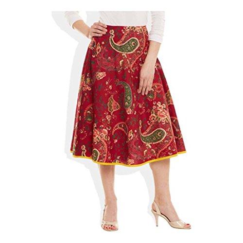 Handicrfats Export Printed Women's Indian Skirt Me Maroon Very Pleated PZxfg