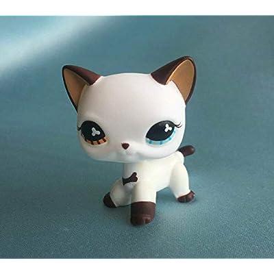 ZAD Custom OOAK LPSs Short Hair Cat White Hand Painted Figure: Toys & Games