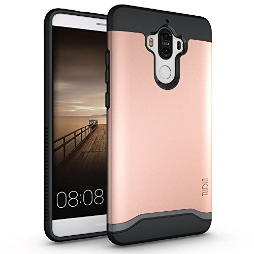 Mate 9 Case, TUDIA Slim-Fit Heavy Duty [Merge] Extreme Protection/Rugged but Slim Dual Layer Case for Huawei Mate 9 (Rose Gold)