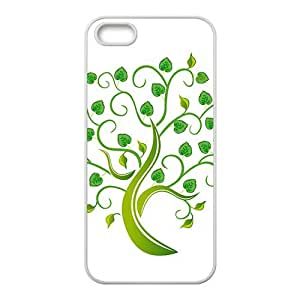 Green Love Tree Hight Quality Plastic Case for Iphone 5s