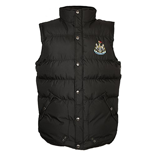 (Newcastle United FC Official Soccer Gift Mens Padded Body Warmer Gilet Small )