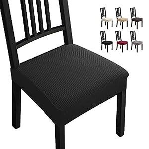 Fundas para sillas Pack de 2 Fundas sillas Comedor Fundas elásticas,Fundas de Asiento para Silla, Diseño Jacquard… 41 2BZcINnwwL