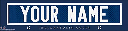 Indianapolis Colts NFL Jersey Nameplate Wall Print, Personalized Gift, Boy's Room Decor 6x22 Unframed Poster]()