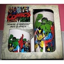 Marvel Comics Travel & Ceramic Mug - 2-Pack