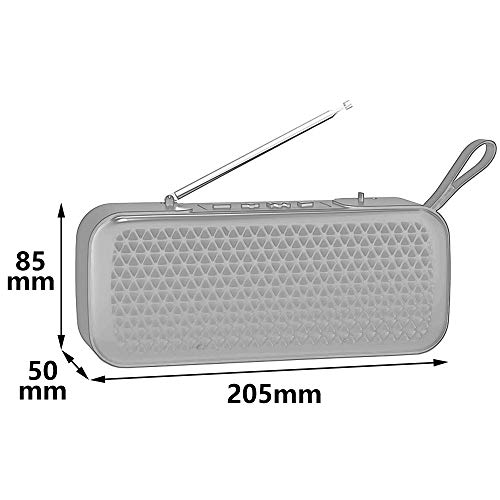 Household appliances Bluetooth Audio FM Radio, Mini Wireless Outdoor Portable, Support TF Extension Support U Disk Expansion AUX Input AOYS by Household appliances (Image #1)
