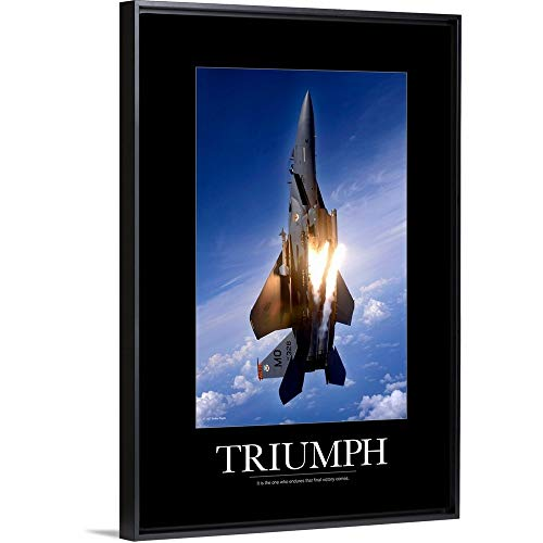 - Kate Lillyson Floating Frame Premium Canvas with Black Frame Wall Art Print Entitled Motivational Poster: an F-15E Strike Eagle pops Flares 16