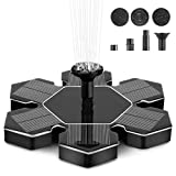 instecho Solar Fountain Pump, 1.4W Powered Floating Fountain Pump for Garden, Pond, Pool, and Patio Free Standing Solar Fountain Water Pumps