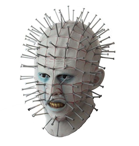 Hellraiser Pinhead Mask (Meelanz Men's Smiffy Pinhead Mask Halloween Costume Deluxe Mask)