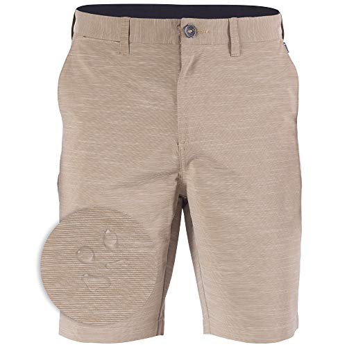 Boardshorts Khaki - Mens Hybrid Golf Shorts Stretch Quick Dry Swim Trunks Boardshorts Khaki - 42