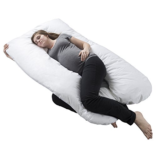 Bluestone Pregnancy Pillow, Full Body Maternity Pillow with Contoured U-Shape by, Back Support