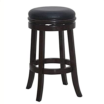 Amazoncom Boraam 44829 Backless Bar Stool 30 Inch Cappuccino