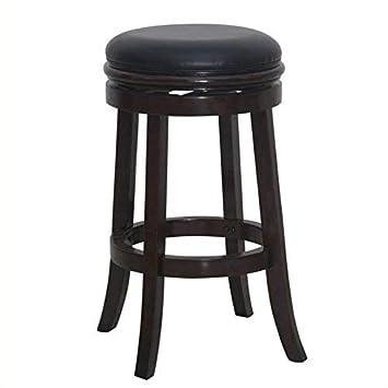 Boraam 44829 Backless Bar Stool, 30-Inch, Cappuccino