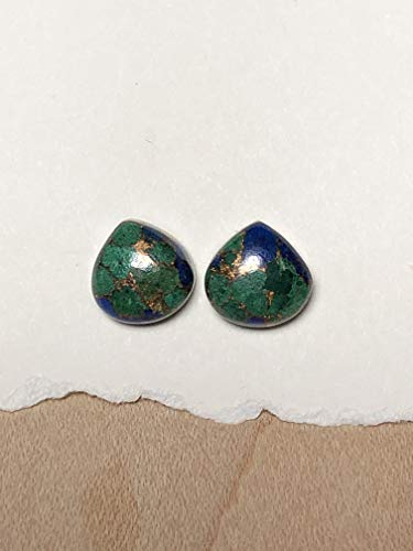Artisan Crafted Sterling Gemstone - 10mm Pear Shaped Azurite Gemstones and