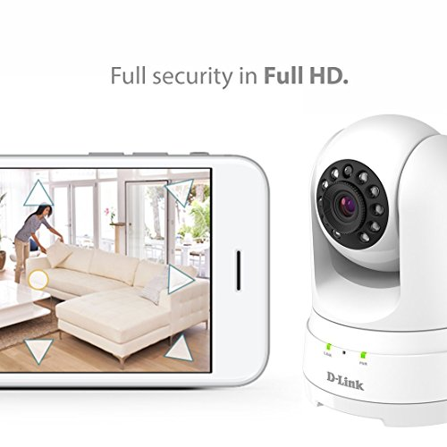 D-Link Full HD 1080p Pan/Tilt/Zoom WiFi Indoor Security