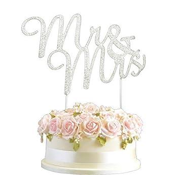 Crystal Monogran Happy 30th Birthday Cake Topper Rhinestone Diamante Silver