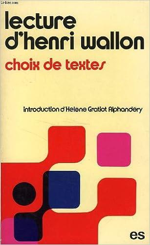 Download Lecture d'Henri Wallon pdf ebook