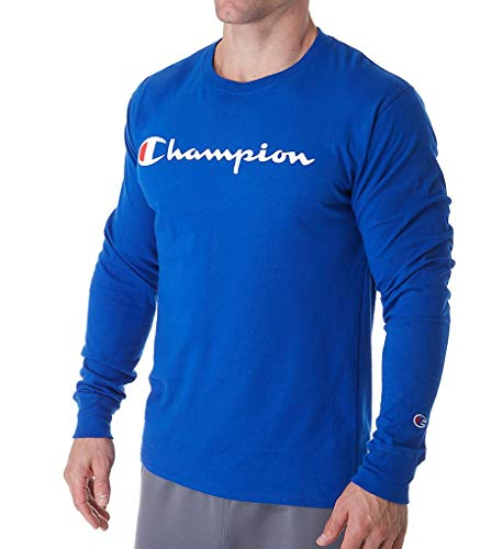 Champion Classic Jersey Graphic Long Sleeve T-Shirt (GT78H) XL/Surf The Web ()