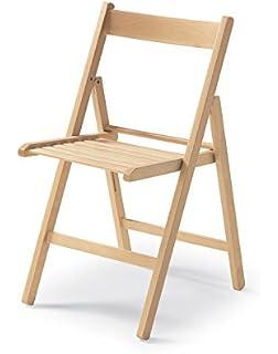 Savino Fiorenzo 4 sillas Plegable Silla birreria de Madera ...