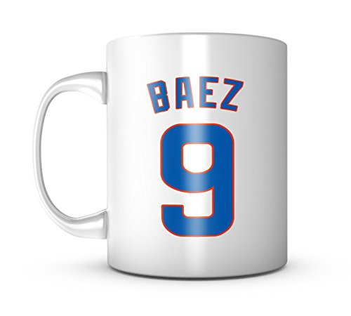 - Javier Baez Mug - Jersey Number Baseball Coffee Cup