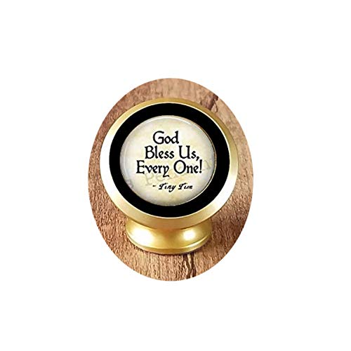 God Bless Us Every One - Tiny Tim Quote - A Christmas Carol Jewelry - Tiny Tim - Magnetic Mounts 360 Degree Rotation from Dashboard Unique Customized Gift,Everyday Gift Magnetic Car Phone Mount Holder -